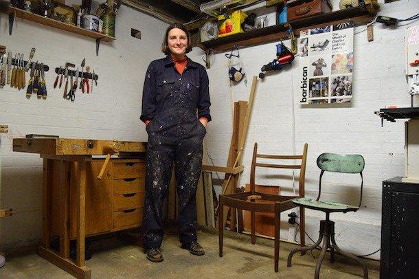 Rosie Bright standing in her workshop