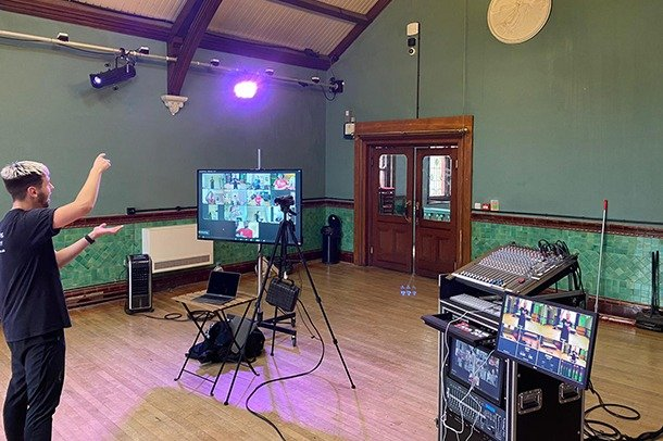 Streaming set up in Assembly Room