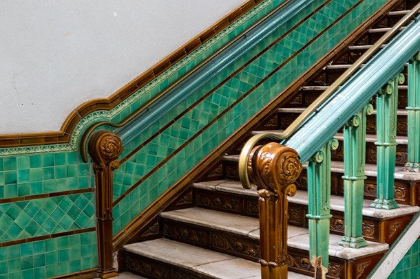 Stairs to Assembly Room in Stanley Arts