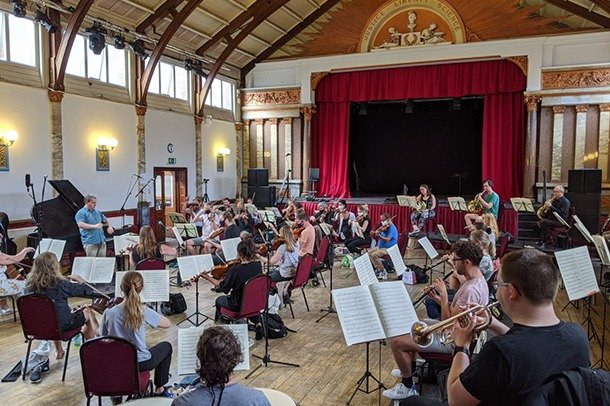 Orchestra rehearsals in Stanley Hall