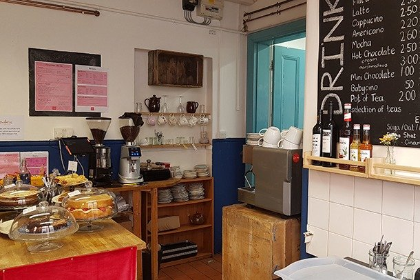 The counter area of Stanley Social Cafe in Stanley Arts