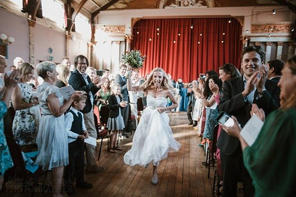 A wedding in the main Stanley Hall at Stanley Arts